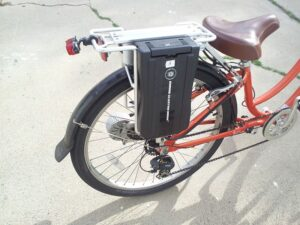 e-bike conversion with rear battery pack