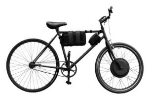 e-bike with velcro battery pack